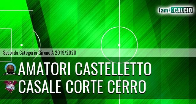 Amatori Castelletto - Casale Corte Cerro