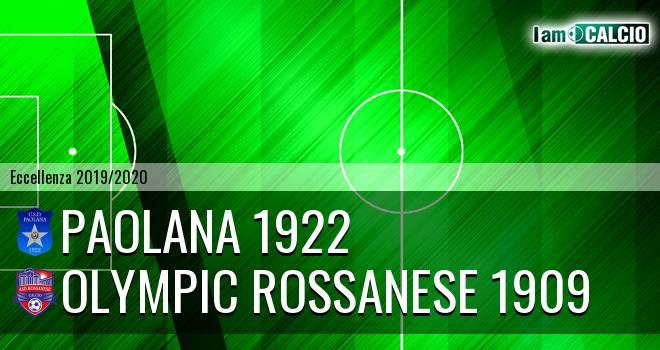 Paolana 1922 - Vigor Lamezia