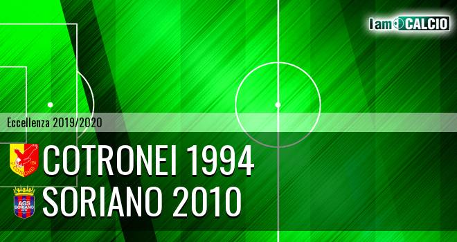 Cotronei 1994 - Soriano 2010