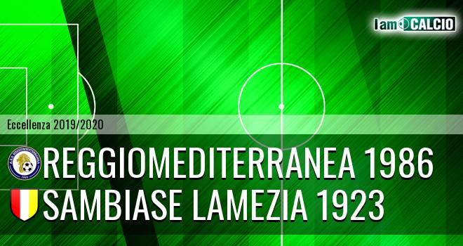 Reggiomediterranea 1986 - Sambiase Lamezia 1923