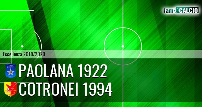 Paolana 1922 - Cotronei 1994