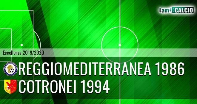 Reggiomediterranea 1986 - Cotronei 1994