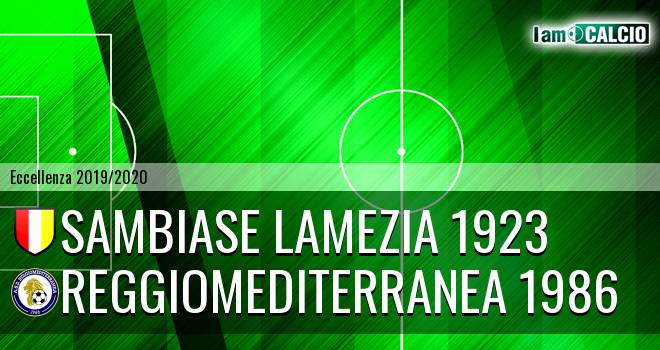 Sambiase Lamezia 1923 - Reggiomediterranea 1986