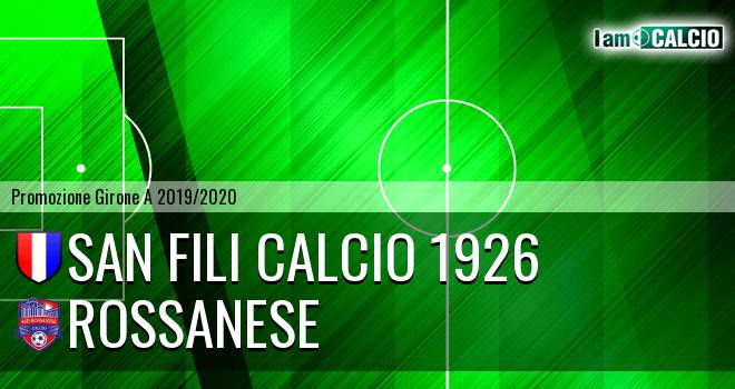San Fili Calcio 1926 - Rossanese