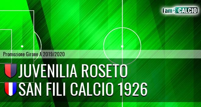 Juvenilia Roseto - San Fili Calcio 1926
