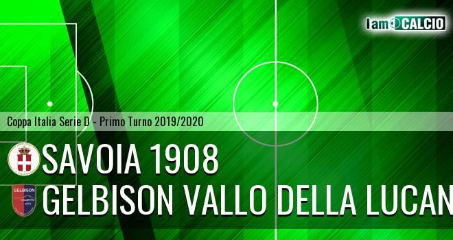 Savoia 1908 - Gelbison Vallo Della Lucania 2-0. Cronaca Diretta 25/08/2019