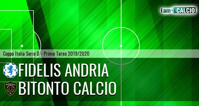 Fidelis Andria - Bitonto Calcio 7-6. Cronaca Diretta 25/08/2019