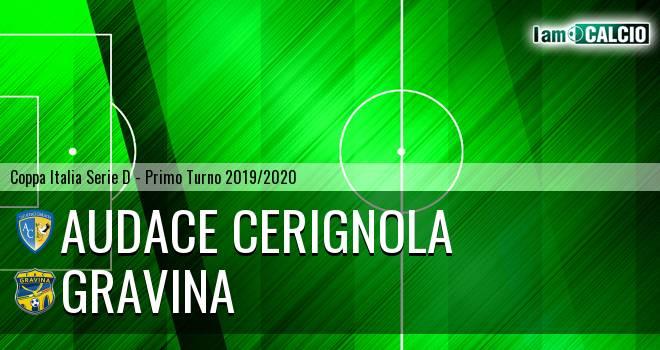 Audace Cerignola - Gravina 3-1. Cronaca Diretta 11/09/2019