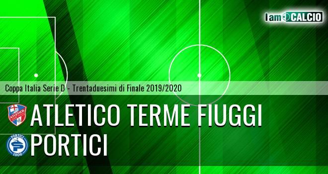 Atletico Terme Fiuggi - Portici