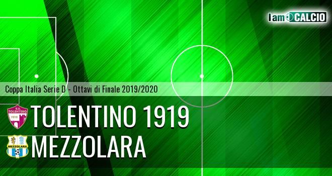 Tolentino 1919 - Mezzolara 4-2. Cronaca Diretta 13/11/2019