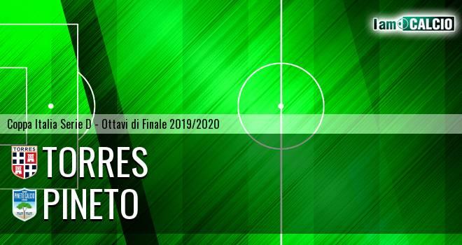 Torres - Pineto 5-7. Cronaca Diretta 13/11/2019