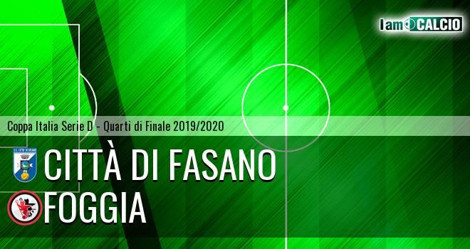Città di Fasano - Foggia 6-4. Cronaca Diretta 04/12/2019