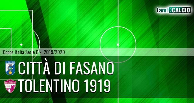 Città di Fasano - Tolentino 1919 4-0. Cronaca Diretta 12/02/2020