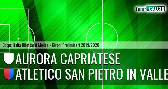 Aurora Alto Casertano - Atletico San Pietro in Valle