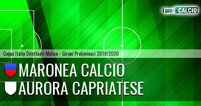 Maronea Calcio - Aurora Alto Casertano