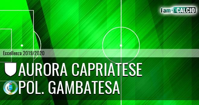Aurora Alto Casertano - Pol. Gambatesa