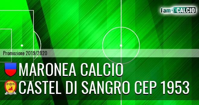 Maronea Calcio - Castel di Sangro CEP 1953
