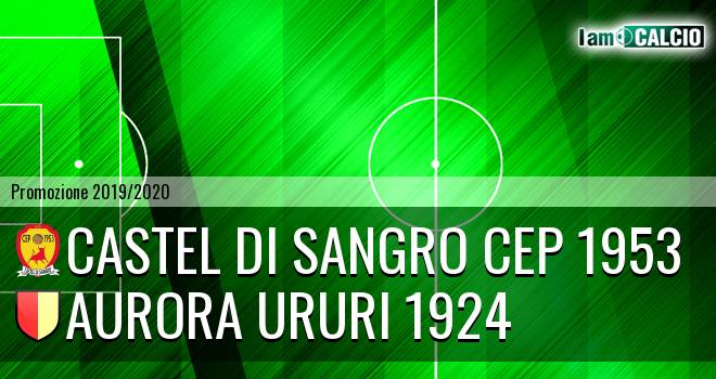 Castel di Sangro CEP 1953 - Aurora Ururi 1924