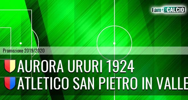 Aurora Ururi 1924 - Atletico San Pietro in Valle