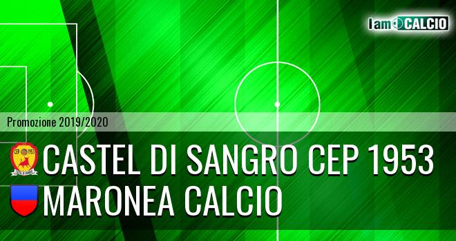 Castel di Sangro CEP 1953 - Maronea Calcio