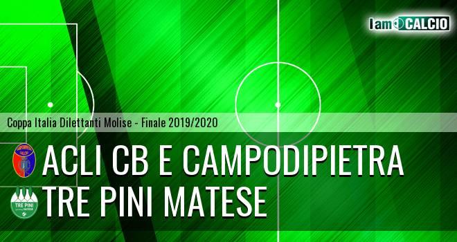 Acli Cb e Campodipietra - Tre Pini Matese 0-4. Cronaca Diretta 02/02/2020
