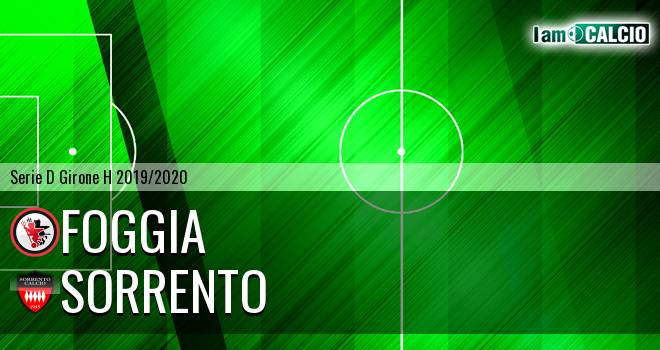 Foggia - Sorrento 1945 0-2. Cronaca Diretta 10/11/2019