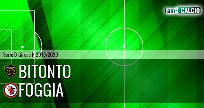 Bitonto Calcio - Foggia 0-0. Cronaca Diretta 01/12/2019