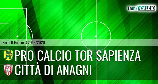 Pro Calcio Tor Sapienza - Città di Anagni