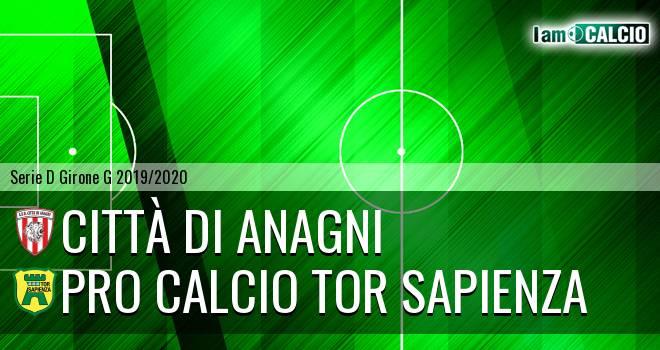 Città di Anagni - Pro Calcio Tor Sapienza