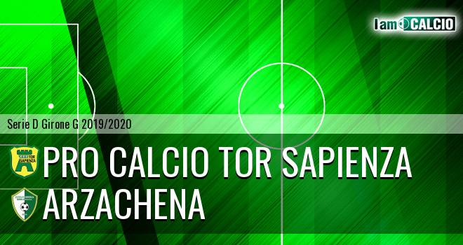 Pro Calcio Tor Sapienza - Arzachena