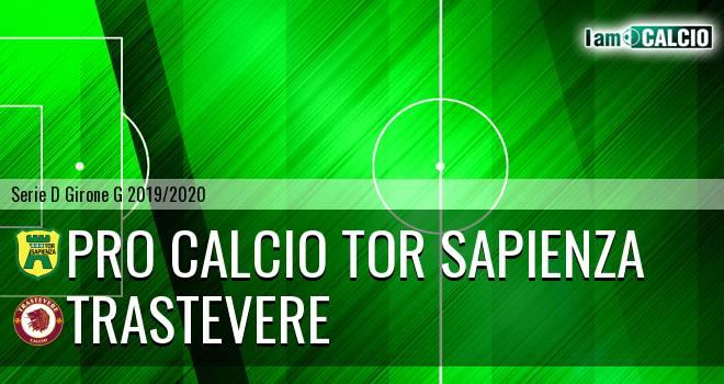 Pro Calcio Tor Sapienza - Trastevere