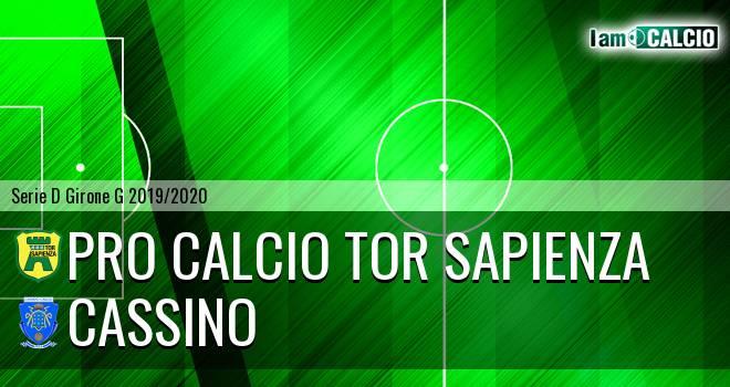 Pro Calcio Tor Sapienza - Cassino
