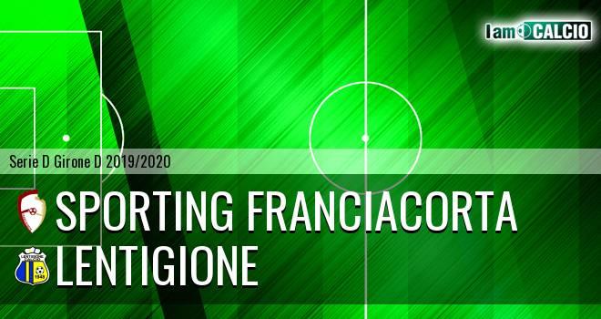 Sporting Franciacorta - Lentigione