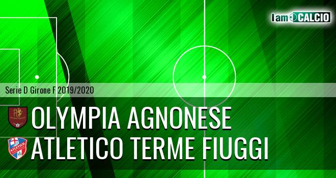 Olympia Agnonese - Atletico Terme Fiuggi