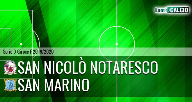 San Nicolò Notaresco - Cattolica Calcio SM
