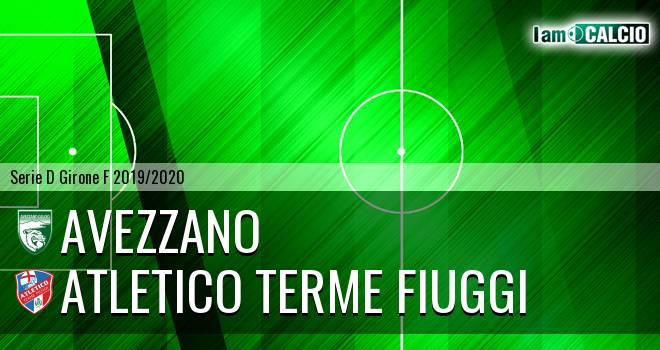 Avezzano - Atletico Terme Fiuggi