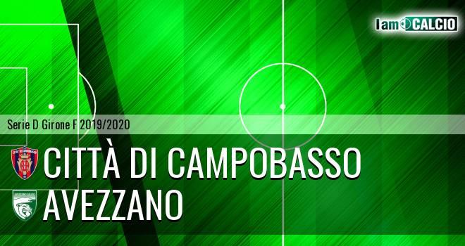 Città di Campobasso - Avezzano 2-2. Cronaca Diretta 05/01/2020