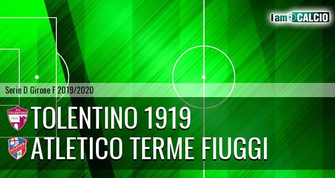 Tolentino 1919 - Atletico Terme Fiuggi