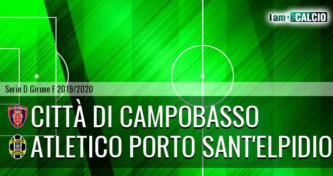 Città di Campobasso - Atletico Porto Sant'Elpidio 3-0. Cronaca Diretta 16/02/2020