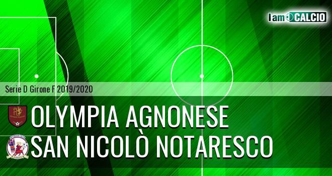 Olympia Agnonese - San Nicolò Notaresco