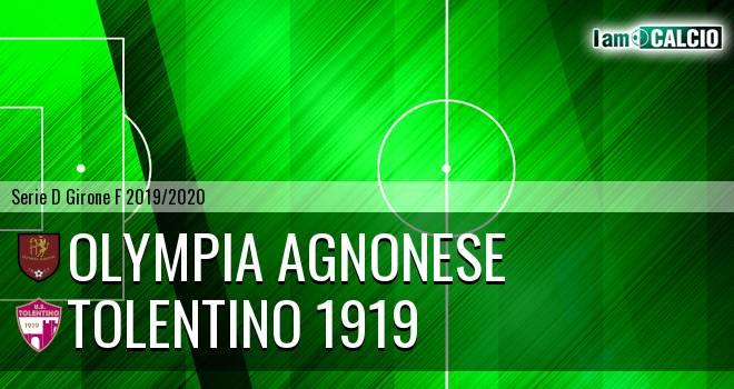 Olympia Agnonese - Tolentino 1919