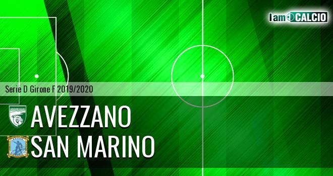 Avezzano - Cattolica Calcio SM