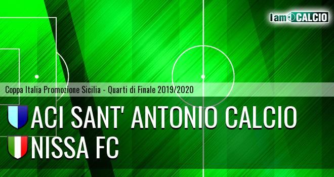 Aci Sant' Antonio Calcio - Nissa FC