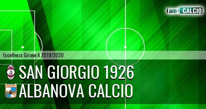 San Giorgio 1926 - Albanova Calcio