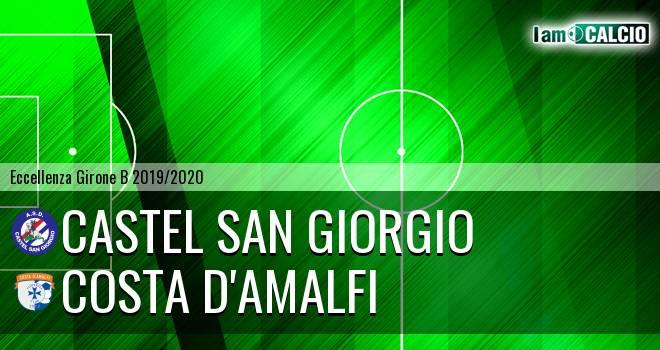 Castel San Giorgio - Costa d'Amalfi 1-1. Cronaca Diretta 15/02/2020