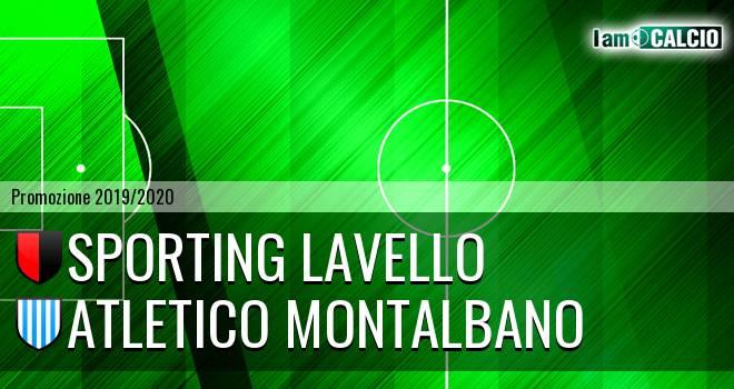 Sporting Lavello - Atletico Montalbano