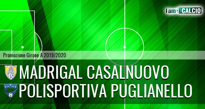 Madrigal Casalnuovo - Polisportiva Puglianello 2-2. Cronaca Diretta 03/11/2019