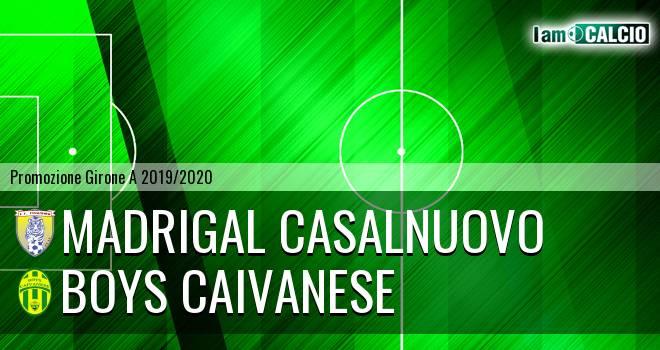 Madrigal Casalnuovo - Boys Caivanese
