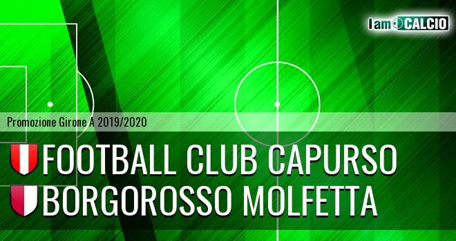Football Club Capurso - Borgorosso Molfetta