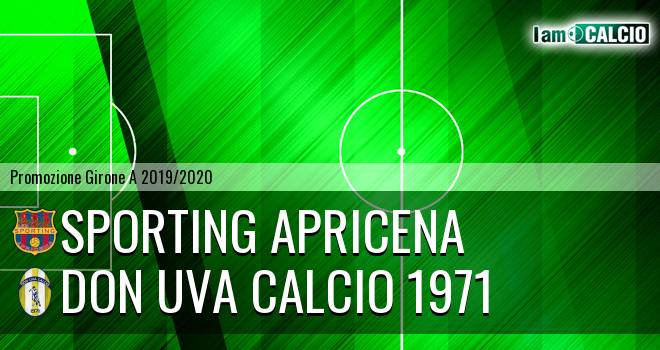 Sporting Apricena - Don Uva Calcio 1971